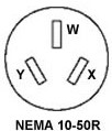 N 10 50R the 50 amp 120 240 volt 3 pole 4 nema 10-50r wiring diagram at mr168.co